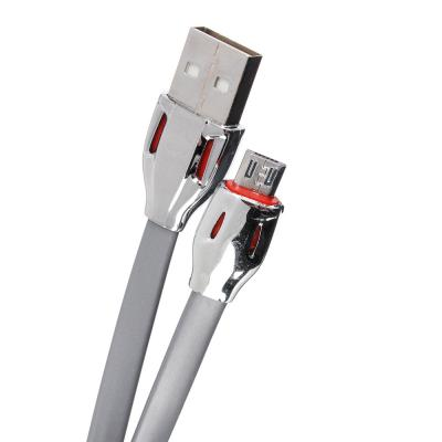 916-053 FORZA Кабель для зарядки Micro USB, 1м, 2А, коннект с ПК, LED-подсветка, плоский кабель
