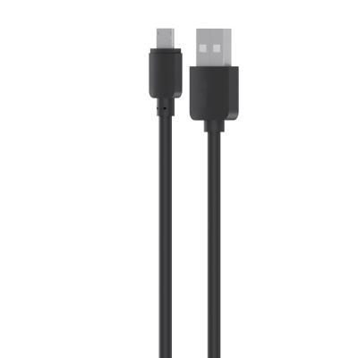 916-059 Кабель для зарядки Micro USB, 0,8м, 1A, прорезиненный, черный
