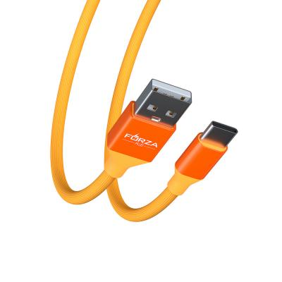 916-063 FORZA Шнур для зарядки USB Type-C Прорезиненный Цветной, 1М, 2A