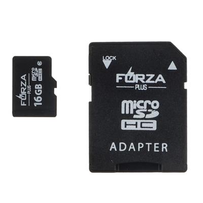 916-071 FORZA Карта с адаптером, Micro SD, 8Гб