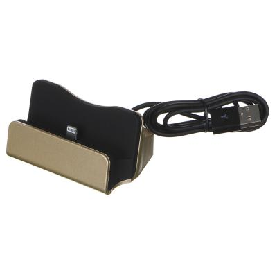 916-077 FORZA Док-станция - зарядка, micro USB, 6х5 см, 1А, дл.провода 90 см, 2 цвета