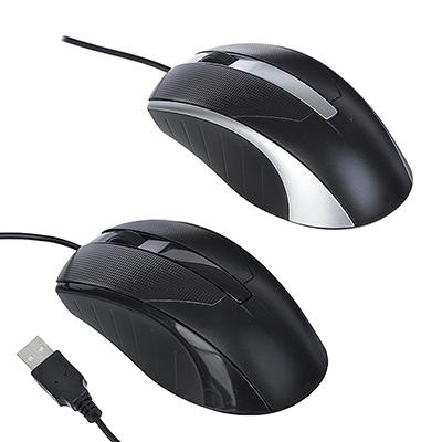 916-119 FORZA Компьютерная мышь проводная Стандарт, провод 1,25м, прорезин, 2 цвета