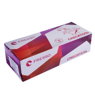 553-103 FRESSO Смеситель SH378/73 для ванны, дл.излив, керам. картридж 40 мм,шаров.диверт, хром D