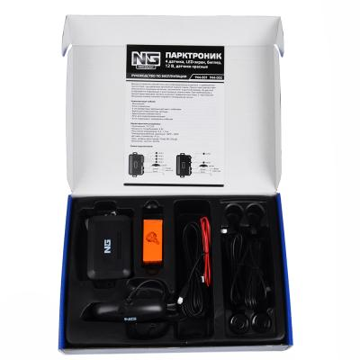 944-002 NEW GALAXY Парктроник, 2 датчика, LED-экран, биппер, 12 В, датчики красные