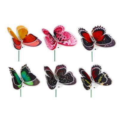 """185-026 Украшение светодиодное """"Бабочка"""" 6 цветов 3х10х10"""
