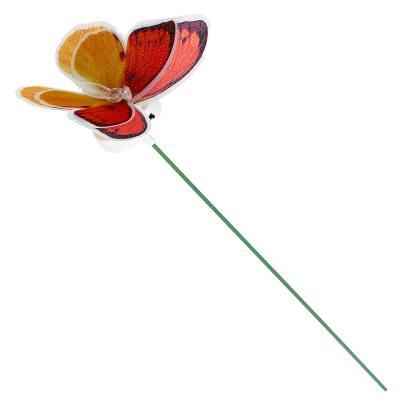 """185-026 INBLOOM Украшение светодиодное """"Бабочка"""", ПВХ, 10см, LR44x3, 6 цветов"""