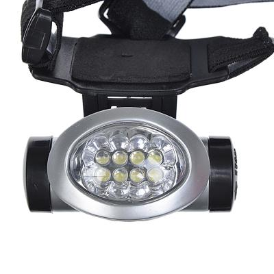 632-032 ЕРМАК Фонарь налобный светодиодный, 3 режима, 8 LED,+ 3 батарейки ААА, блистер
