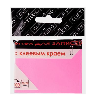 533-031 Блок с клеевым краем ClipStudio 51x76мм, 100 листов, неоновый, малиновый