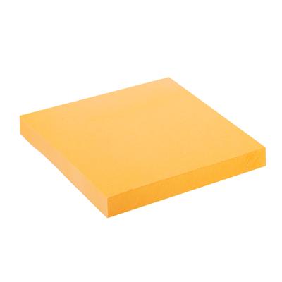 533-035 Блок с клеевым краем неоновый 76x76мм, 100 листов, оранжевый, ClipStudio