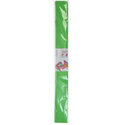 558-011 Гофрированная цветная бумага зеленая в рулоне 50х200 см