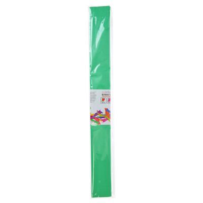 558-015 Гофрированная цветная бумага салатовая в рулоне 50х200 см