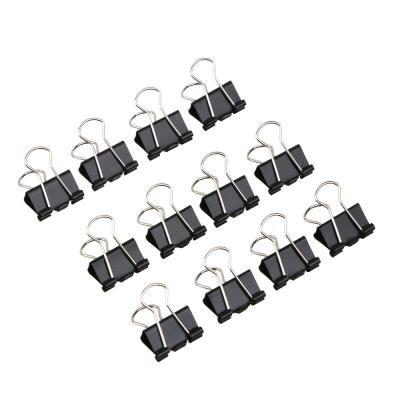588-017 Зажимы для бумаг, металл, 32 мм, черные, 12 шт в картонной коробке ClipStudio