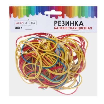 588-020 Набор банковских резинок ClipStudio 100 гр, цветные