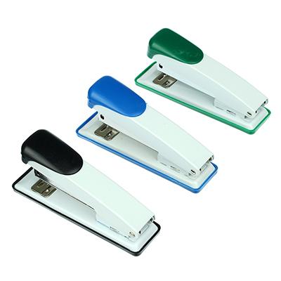 598-004 Степлер канцелярский для скоб №24/6, металлический корпус, ассорти 3 цвета, в карт.уп, ClipStudio