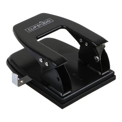 598-022 Дырокол мощный на 25 листов, металлический, черный, ClipStudio
