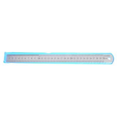 612-002 Линейка стальная 30 см, толщина 0,5 мм, в пластиковом чехле ClipStudio