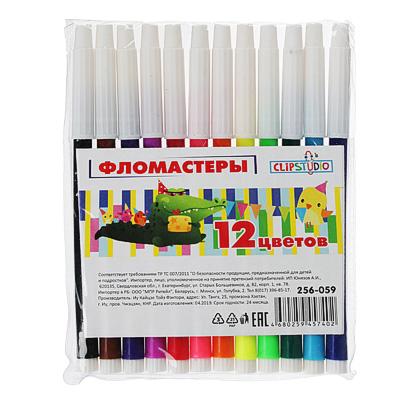 256-059 Фломастеры ClipStudio 12,8см x 8мм, 12 цветов