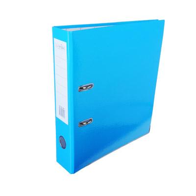 591-020 ClipStudio Папка с арочным механизмом A4 корешок 7,5см ламинированная, с мет.окантовкой, голубая