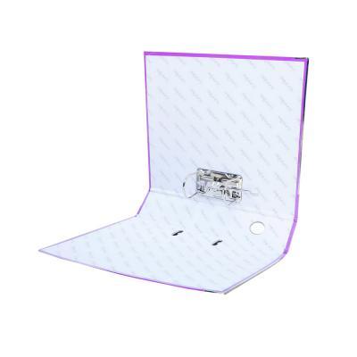 591-021 ClipStudio Папка с арочным механизмом A4 корешок 7,5см ламинированная, с мет.окантовкой, фиолетовая