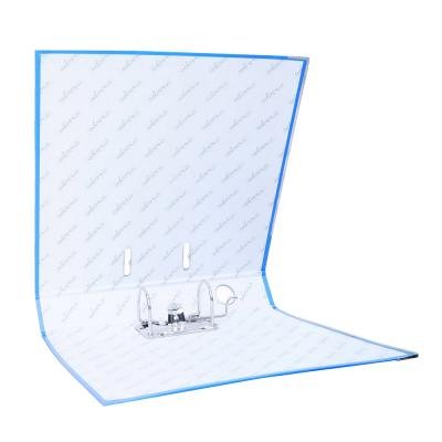591-023 Папка с арочным механизмом A4 синяя, корешок 5 см РР, с металлической окантовкой, ClipStudio