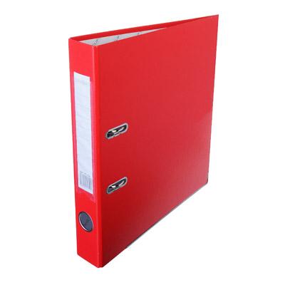 591-024 Папка с арочным механизмом A4 красная, корешок 5 см РР, с металлической окантовкой, ClipStudio