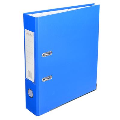 591-026 Папка с арочным механизмом A4 синяя, корешок 7,5 см РР, с металлической окантовкой, ClipStudio