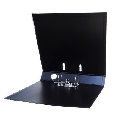 591-028 ClipStudio Папка с арочным механизмом A4 корешок 5см двойной PP, с мет.окантовкой, черная