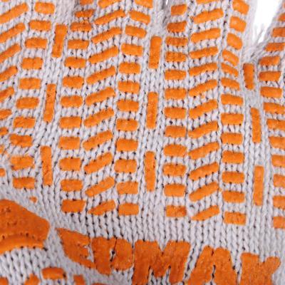 638-015 ЕРМАК Перчатки вязаные ЛЮКС х/б с ПВХ напылением, 5 нитей, белые, 62 гр, пакет