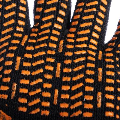 638-016 ЕРМАК Перчатки вязаные ЛЮКС х/б с ПВХ напылением, 5 нитей, черные, 62 гр, пакет