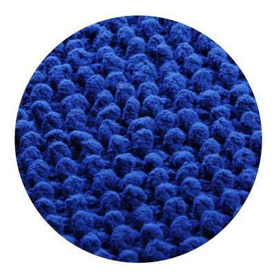 599-045 Коврик для ванной Пузыри 50х80см, хлопок, б/п, синий