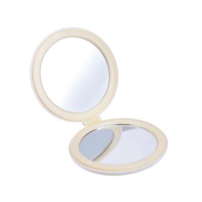 301-225 Карманное зеркало, круглое d. 6,5 см, пластик, стекло, 4 дизайна