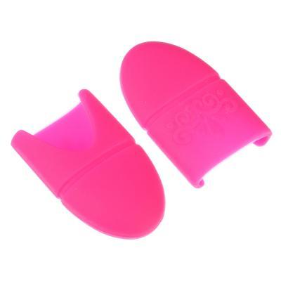 357-167 Приспособление для снятия гель-лака, силикон, 2 цвета, 2,8х3,7см, набор из 5 штук
