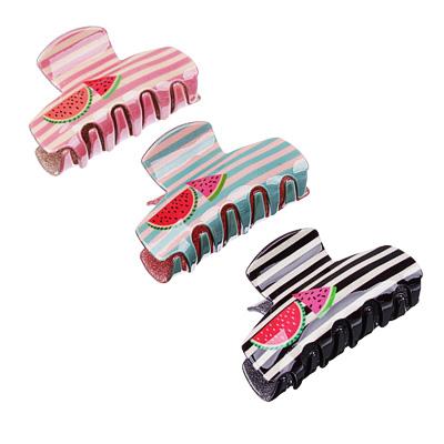 324-118 Заколка-краб для волос, акрил, 8 см, 2 дизайна, #1