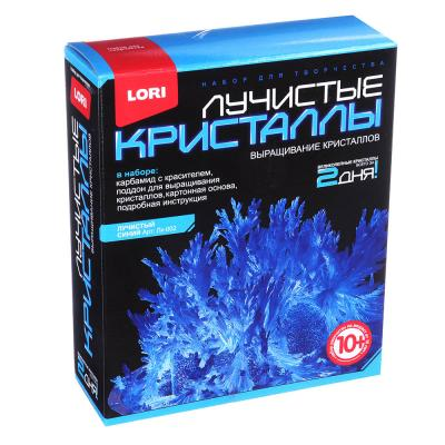 283-074 ЛОРИ Набор для выращивания кристаллов, хим.реактивы, 13,5х11,3х4см, 10+, 8 цветов