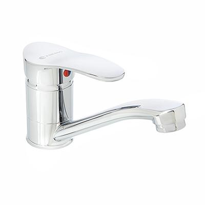 553-120 FRESSO Смеситель SH360 для кухни, кор.излив, керам. картридж 40 мм, шпилька, хром D