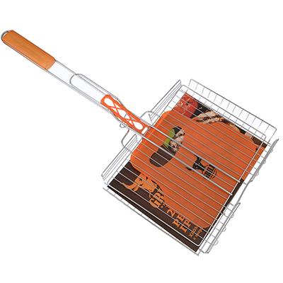 104-044 GRILLBOOM 2018 Решетка-гриль хром., 62х(30х24х4)см, веер пластик 22х32см