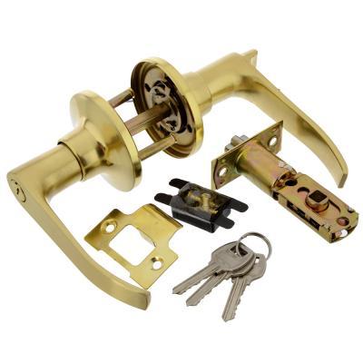 617-316 LARS Замок 3182-01 матовое золото c ключом