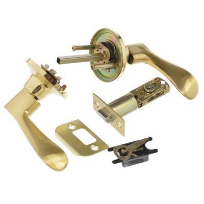 617-342 LARS Замок 3201-05 матовое золото без ключа, без фиксатора