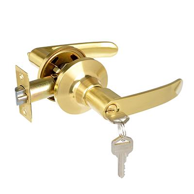 617-357 LARS Замок 8082-01 матовое золото c ключом