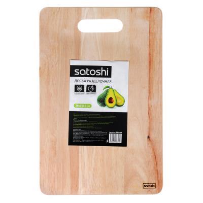 851-163 SATOSHI Доска разделочная гевея 38x25x1,0см