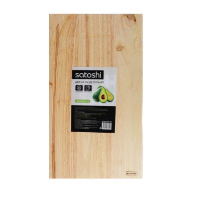 851-164 Доска разделочная деревянная SATOSHI, гевея, 45x25x1,5 см