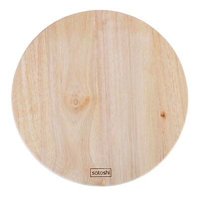 851-165 Доска разделочная деревянная SATOSHI, гевея, круглая d.22