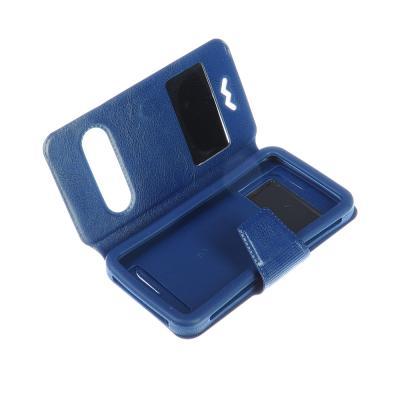 328-296 Чехол-книжка для телефона универсальный, ПВХ, силикон, 12,8х7х1,5см, 3 цвета, #2