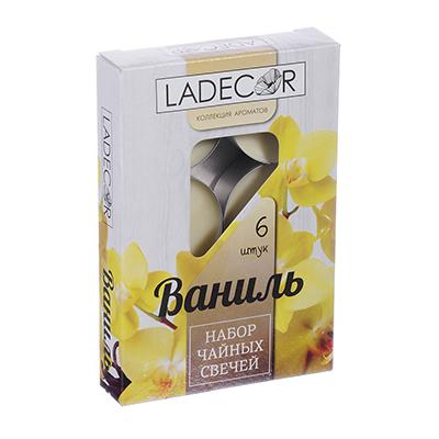 508-538 LA DECOR Набор свечей чайных 6шт, парафин, аромат ваниль, арт.30714