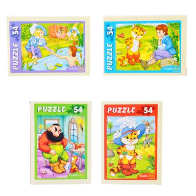 898-009 РЫЖИЙ КОТ Пазлы 54 детали микс, картон, 17,5х13см, 32 дизайна, П-54-3662