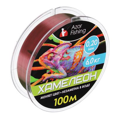 "144-063 AZOR Леска, ""Хамелеон"" 100м, 0,20мм, разрывная нагрузка 6 кг"