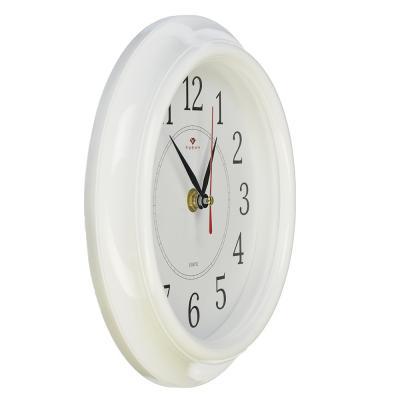"""581-680 Часы настенные круглые ,пластик, d21см, белый, """"Классика"""""""
