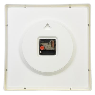 "581-694 Часы настенные квадратные, пластик, 30х30см, белый, ""Классика"""