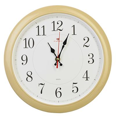 """581-696 Часы настенные круглые, пластик, d29см, бежевый, """"Классика"""""""