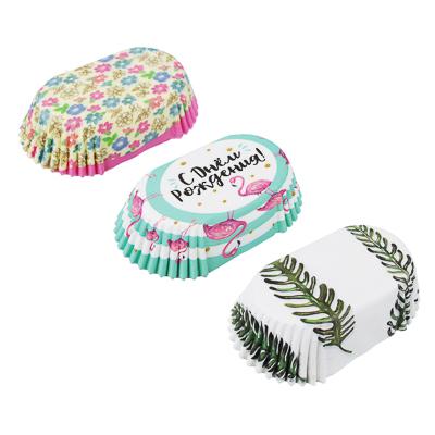 437-260 Набор формочек для кап-кейков, овал, 72шт, 7,3x3,5x2,5см